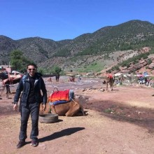 Trekking in Ouirgane atlas mountains
