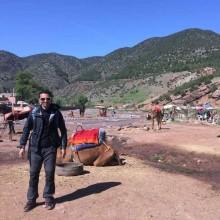 Trekking in Ouirgane atlas mountains